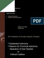 Provincial Autonomy