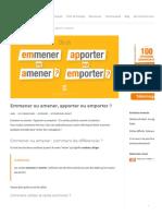 Emmener Ou Amener, Apporter Ou Emporter _ _ Parlez-Vous French