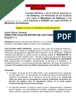 Modelos de derechos de petición