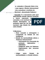 Trabalho de Direito Internacional- Clausula Calvo