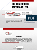 PORTAFOLIO CENTRO DE SERVICIOS PANAMERICANA LTDA