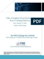 FSE Listings Frankfurt Stock Exchange Xetra Trading Platform August 72008