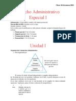 Derecho Administrativo Especial I CLASES