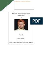 Macron Napoleon Des Temps Modernes Format a4 Edition999 - Michel Canal