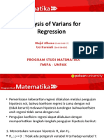 Analysis of Varians for Regression