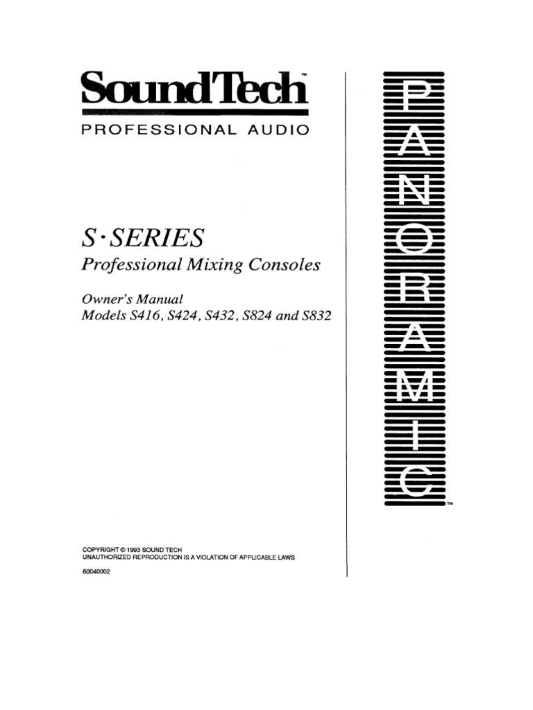 s416 s424 s432 s824 s832 owner s manual rh scribd com Sound Tech Titan Sound Tech Logo
