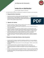 SISTEMA DE VENTAS Y DISTRIBUCIÓN
