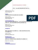 Directorio de aseguradoras en Colombia