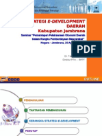 Strategi E-Development ~ Pemantapan OTDA 25 Ags 2008