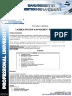 Licence Management Qualite