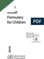 WHO-model list Children_2010
