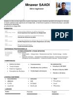 CV SAADI Mnawer