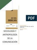 Sociología y antropología de la comunicación