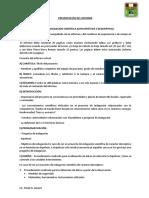 PRESENTACION DEL INFORME- ÁREA DE INDAGACIÓN CIENTÍFICA