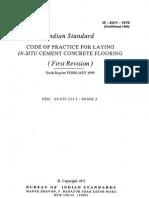 2571-COP for laying insitu CC flooring