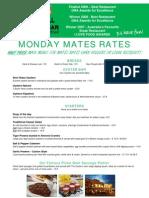 Char Grill & Terrace Bar Monday Mates Rates 2010