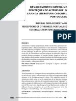Deslocamentos imperiais e percepções de alteridade - o caso da literatura colonial - Mata
