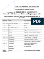 Fundamentals of Nutrition - NFS 043 OL3 - Course Syllabus or Other Course-Related Document