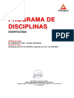 Conteudo Programatico Do Curso de Odontologia (Odineia Da Silva)-Compactado