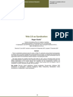 WEB 2.0 and Syndication