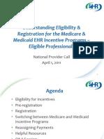 EHR Incentive Program Registration for EPs