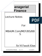 Managerial Finance-course-outine
