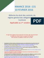 DROIT DES CONTRATS 2016