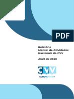 CVV 2020 relatório mensal
