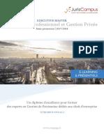 Paris Dauphine_Executive Master Patrimoine Professionnel Et Gestion Privée