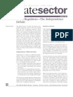 Utility Regulators—The Independence Debate
