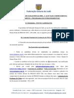 Regulamento Curso e exame de faixas pretas fegoju 2020 - ON LINE - SEGUNDA TEMPORADA