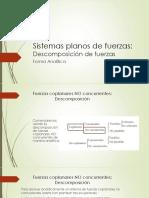 06 - Descomposición de Fuerzas Plano