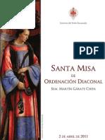 Rito de Ordenación Diaconal - Misal (Sem. Martín Gárate)