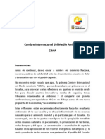 Discurso Inauguración CIMA - Ministra del Ambiente Marcela Aguiñaga