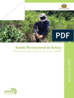 Bolivia Informe Monitoreo Coca 2020