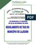 LEI MUNICIPAL N.º 490-2009 - NORMAS DE TAXI LAJES 2009