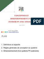 En PV Chapitre 4 Dimensionnement système PV avec stockage