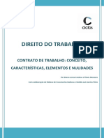 14. Contrato de Trabalho - Conceito, Características, Elementos e Nulidades