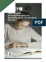 Intervenção Psicopedagógica Na Aprendizagem Da Leitura E Escrita