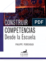 CONSTRUIR COMPETENCIAS DESDE LA ESCUELA - PERRENOUD