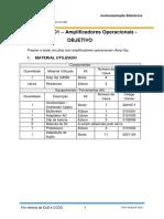 EXP01 - Amplificadores Operacionais