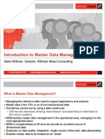 Introduction to Oracle Master Data Management