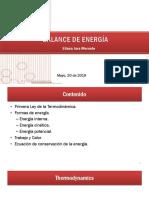 Energy Balance (May 20)