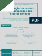 A produção do comum nas ocupações das escolas cariocas
