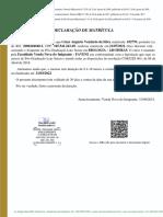 Declaração de Cursando - COM FUNDO - César Augusto Venâncio Da Silva - BIOLOGIA - 240 HORAS