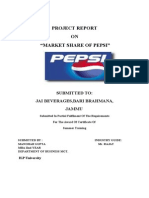 PEPSI Project Report- Mohit