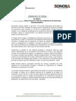 13-08-21 Reconoce gobernadora Pavlovich a CIRT por compromiso con mexicanos durante pandemia