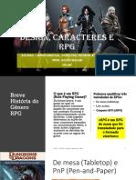 Game RPG e Design de Caracteres para RPG