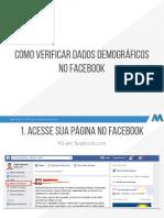 Como verificar dados demográficos no Facebook