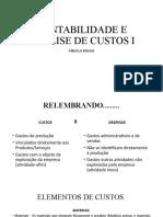 CAC I. custos diretos,indiretos,fixos, variaveis